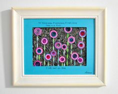 There Is A Field  Quilled Mosaic. Paper. Home by PaperSpirals