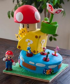 This was a cake for my son's birthday. He is one of the biggest Super Mario Fans out there.