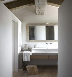 simple concrete + wood sink