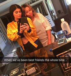 No bad blood here: Kylie Jenner and Blac Chyna insisted they've always been 'best friends' as they shared selfies while hanging out together on Thursday