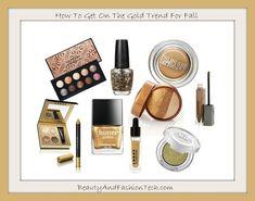Fall 2013 Gold Makeup Trend via Beauty& Fashion Tech