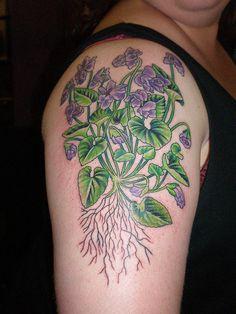 my african violets tattoo tattoos pinterest violet tattoo tattoo and tatting. Black Bedroom Furniture Sets. Home Design Ideas