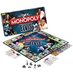 Elvis Monopoly Game, this must be so much fun to play!!!!!!