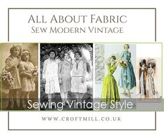 Sewing Vintage Garments with Modern Fabrics & Patterns Vintage Dress Patterns, Vintage Fabrics, Fabric Patterns, What Is Vintage, Modern Fabric, Vintage Girls, Vintage Buttons, Fabric Design, Vintage Fashion