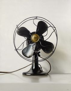 Black Vintage Electric Fan