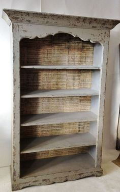 Furniture: Modern Backless Distressed Bookcase