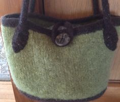 Felted wool two color handbag by Rarerural on Etsy, $50.00