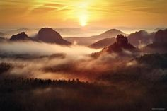'The Ancient Land', Saxon Switzerland - ie, Germany (Kilian Schoenberger Photography)
