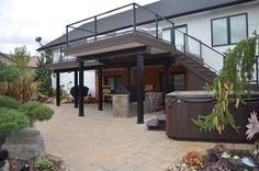 second story deck plans pictures story deck ideas Patio Deck Designs, Balcony Design, Patio Design, Second Story Deck, Two Story Deck Ideas, Second Story Addition, Metal Deck, Concrete Deck, Modern Deck