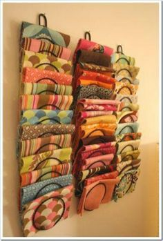 Use letter holders to store fabric