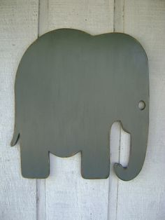 "Big rustic wood elephant baby nursery wall hanging decor home decor-24"" Tall. $54.00, via Etsy."