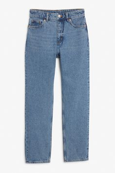 <p>Vintage high-waist goodness. Too cool, old-school jeans with straight, no-nonsense legs. <br />• straight leg <br />•&n