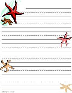 kids writing paper, puzzle,  sea animals  school stationery, ocean shark letterhead