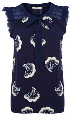Oasis Swallow Print Top