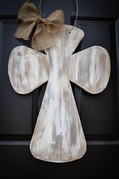 Shabby Chic Wooden Cross Door Hanger by SwankySouth on Etsy, $40.00