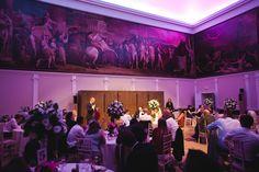 Love how the purple highlights the Great Room RSA House London Wedding