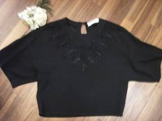 ソニアリキエル フランス製 黒半袖 アンティークレース Antique lace ¥8550yen 〆04月14日