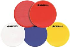 Kwik Goal Flat Round Marker (Pack of Blue: The Kwik Goal Flat Round Markers are in diameter and made from flexible PVC. They have a gripped backing to help prevent slippage on some surfaces. Comes in a pack of 10 markers. Soccer Workouts, Soccer Equipment, Pvc Material, Running Training, Workout For Beginners, Soccer Ball, Markers, Coaching, All In One