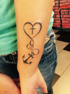 Faith, Hope, Love! #faith #tattoo #faithtattoo #christian #anchor #anchortattoo #hopetattoo #blacktattoo #tattoos #wristtattoo