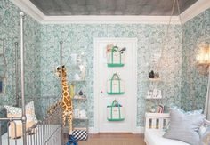 Store items like stuffed animals or blocks in wall- or door-mounted tote bags. Monogram the totes to label what's inside or to differentiate between each child's toys. See more at Play Chic Interiors.   - CountryLiving.com