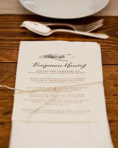 Match your menu card to the theme of your wedding with a little inspiration from this collection featuring menus by style, including rustic, vintage, destination, modern, and seasonal.