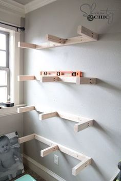 10 Simple Tricks Can Change Your Life: How To Make Floating Shelves Subway Tiles floating shelves living room arrangement.Floating Shelves Placement Master Bath floating shelves different sizes glasses.How To Hang Floating Shelves Home. Decor, Home Diy, Diy Shelves, Diy Furniture, Interior, Floating Shelves Diy, Home Decor, Diy Wall Shelves, Floating Shelf Plans