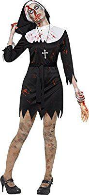 Smiffys 45527S Déguisement Femme Bonne Sœur Zombie, Noir, Taille S: Amazon.fr: Jeux et Jouets