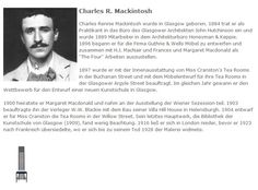 Charles R. Mackintosh - deutscher Text