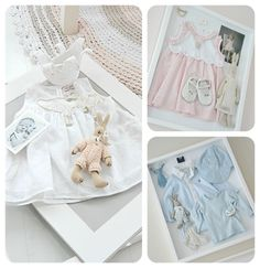 Baby Clothes & first picture shadowbox