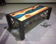 Live Edge River Bridge Coffee Table