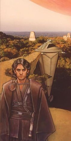 Kyp Durron and the Sun Crusher on Yavin IV by Jeffery Carlisle Star Wars Rpg, Star Wars Jedi, Star Trek, Sun Crusher, Star Wars Characters, Fictional Characters, Star Wars Images, Good Movies, Sci Fi