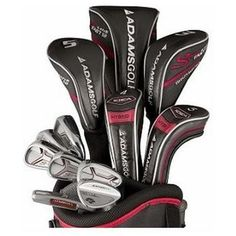The aerodynamic shaped driver in these speedline plus complete woods and irons sets by Adams reduces the amount of drag during the swing for more club head speed which equates to more distance Mens Golf Clubs, Ladies Golf Clubs, Golf Clubs For Sale, Senior Club, Best Golf Club Sets, Golf Club Reviews, Golf Wedges, Golf Exercises, Taylormade