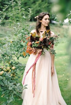 I encourage every bride to be to really look outside of weddings to identify their look and style. Start with what you love and inspires you; for me, that has always been my family home, the veg patch and orchard – the fruit trees in autumn (and the blossom in Spring).