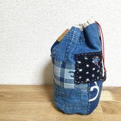 Hey, I found this really awesome Etsy listing at https://www.etsy.com/listing/232588214/japanese-boro-drawstring-bag-kinchaku