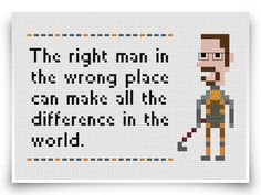Half-Life Cross Stitch Pattern - diggin the sweet glasses.