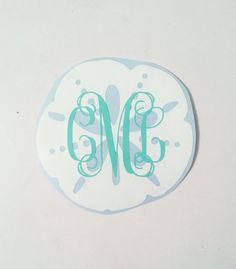 Sand Dollar monogram decal