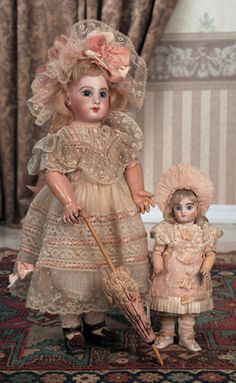 Beautiful French Bisque Bebe E.J.,Size 8,by Jumeau