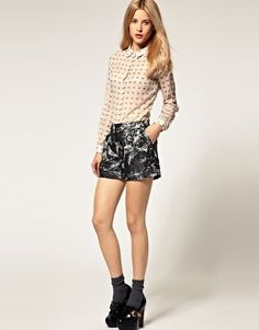 ASOS Metallic Shorts - StyleSays