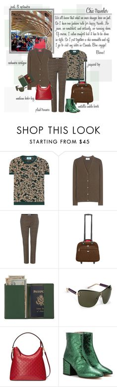 """Mon Style № 91 - September 8, 2016"" by ann4-kar1na ❤ liked on Polyvore featuring Prada, Baggallini, Royce Leather, Passport, Gucci, Leather, Boots and metallic"