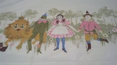 60s 70s AWESOME Wizard of Oz Flat Sheet on by ShabbyChicCreek, $35.00