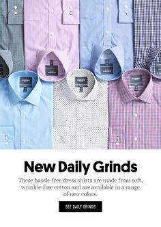 Wrinkle-Free Daily Grinds