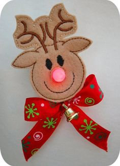 Embroidery Projects In The Hoop :: Tealight (Battery Operated) Covers :: Reindeer Flameless Tealight Pin - Embroidery Garden In the Hoop Machine Embroidery Designs - Machine Embroidery Gifts, Learn Embroidery, Embroidery Applique, Machine Embroidery Designs, Embroidery Ideas, Felt Christmas Ornaments, Christmas Crafts, Tea Light Snowman, Santa And Reindeer