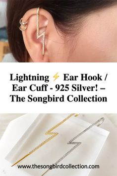 Our Lightning Ear Hook / Ear Cuff is a fashion-forward, trend setting earring that features simple, clean lines with micro-pave setting of tiny cubic zirconia. Chic and modern, minimalist in design yet so timeless and classic in their simplicity, Lightning Ear Hook / Cuff will be the most unique and innovative piece of jewelry in your wardrobe. Cool Presents, Modern Minimalist, Clean Lines, Statement Earrings, Lightning, Fashion Forward, 925 Silver, Women Jewelry, Passion