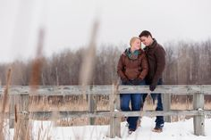 Winter Snow Engagement Photo - Troy St. Louis Photography_