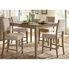 Liberty Furniture Auburn 5 Piece Counter Height Gathering Table Set   645 CD