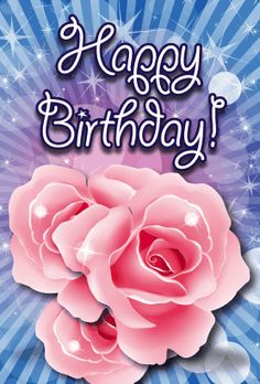 This birthday card features roses, and will print on standard 8.5x11 paper, which is then folded in half. Free to download and print