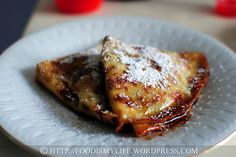 Chocolate and Banana Crepes with Boozy Sauce  say what...