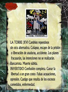 Trastos de Bruja: La torre                                                                                                                                                                                 Más Tarot Significado, Le Tarot, Tarot Card Meanings, Tarot Readers, Spirit Guides, Book Of Shadows, Tarot Decks, Tarot Cards, Witch