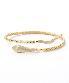 Loving this Two-Tone Basket Weave Snake Cuff on #zulily! #zulilyfinds