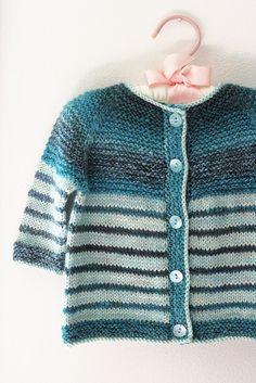 Tanis Fiber Arts: Handspun Garter Yoke Baby Sweater